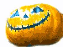 Zucca di Halloween di arte del pixel Immagine Stock Libera da Diritti