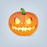 Zucca di Halloween con il fronte spaventoso Fotografie Stock Libere da Diritti