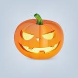 Zucca di Halloween con il fronte spaventoso Immagine Stock Libera da Diritti