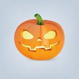 Zucca di Halloween con il fronte spaventoso Fotografia Stock