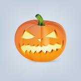 Zucca di Halloween con il fronte spaventoso Immagini Stock Libere da Diritti