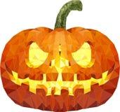 Zucca di Halloween con il fronte spaventoso su bianco Immagini Stock Libere da Diritti