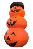 Zucca di Halloween con ombra isolata su bianco Fotografie Stock