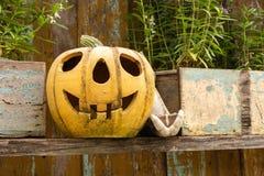 Zucca di Halloween decorata Immagini Stock Libere da Diritti
