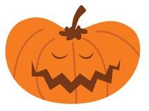 Zucca di Halloween del fumetto con l'espressione felice illustrazione vettoriale