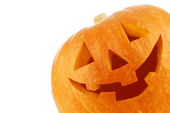 Zucca di Halloween della lanterna del Jack O Immagine Stock