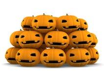 Zucca di Halloween della lanterna di Jack O, illustrazione 3D Immagini Stock Libere da Diritti