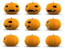 Zucca di Halloween della lanterna di Jack O, illustrazione 3D Fotografia Stock