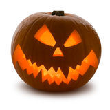 Zucca di Halloween, isolata Fotografia Stock Libera da Diritti