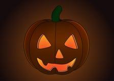 Zucca di Halloween isolata Immagini Stock Libere da Diritti
