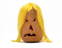 Zucca di Halloween isolata su bianco Immagine Stock Libera da Diritti