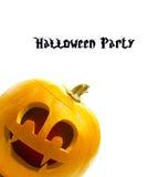 Zucca di Halloween isolata su priorità bassa bianca Immagini Stock Libere da Diritti