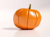 Zucca di Halloween su bianco Fotografia Stock Libera da Diritti