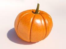 Zucca di Halloween su bianco Fotografia Stock