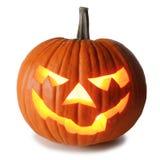 Zucca di Halloween su bianco fotografie stock libere da diritti