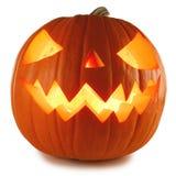 Zucca di Halloween su bianco immagini stock libere da diritti