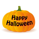 Zucca di Halloween su fondo bianco, Immagine Stock Libera da Diritti