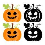 Zucca di Halloween su priorità bassa bianca Immagini Stock Libere da Diritti