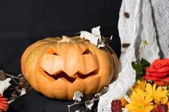 Zucca di Helloween Fotografie Stock Libere da Diritti