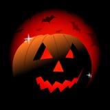 Zucca di malvagità di Halloween Fotografia Stock
