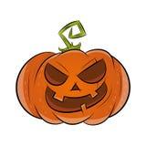 Zucca divertente di Halloween Immagini Stock