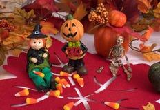 Zucca e strega Halloween Fotografie Stock