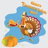 Zucca e torta Giorno di ringraziamento illustrazione di stock