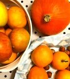 Zucca ed arance Immagini Stock Libere da Diritti