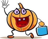 Zucca fatta funzionare con la borsa illustrazione di stock