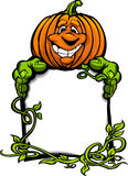 Zucca felice della Jack-O-Lanterna di Halloween Immagine Stock