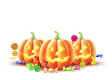Zucca felice delle lanterne della presa della zucca di Halloween di vettore illustrazione vettoriale