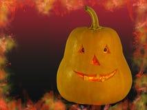 Zucca Halloween con gli occhi fotografie stock