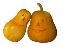 Zucca Halloween con gli occhi isolati su bianco immagine stock libera da diritti