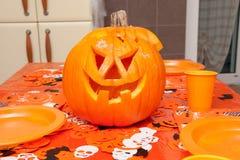 Zucca Halloween della lanterna del Jack o fotografia stock libera da diritti