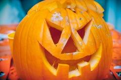 Zucca Halloween della lanterna del Jack o immagine stock libera da diritti