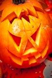 Zucca Halloween della lanterna del Jack o fotografia stock