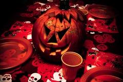 Zucca Halloween della lanterna del Jack o fotografie stock