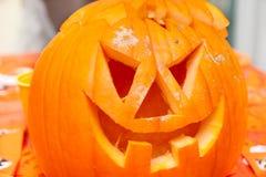 Zucca Halloween della lanterna del Jack o immagini stock libere da diritti