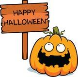 Zucca Halloween felice del fumetto Fotografia Stock