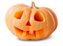 Zucca Halloween Jack O_Lantern Immagini Stock Libere da Diritti