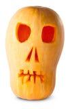 Zucca Halloween Jack O_Lantern del cranio Fotografia Stock Libera da Diritti