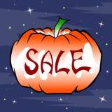 Zucca a Halloween per le vendite di festa Fotografia Stock