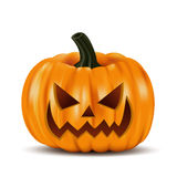 Zucca intagliata di Halloween illustrazione vettoriale