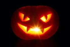 Zucca intagliata di Halloween Immagine Stock Libera da Diritti