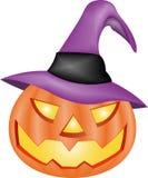 Zucca intagliata di Halloween Fotografie Stock