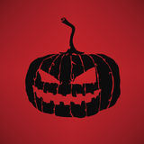 Zucca intagliata di Halloween Illustrazione di Stock