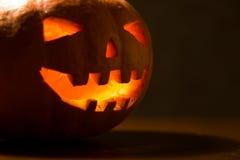 Zucca intagliata di Halloween Fotografia Stock