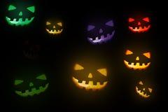 Zucca intagliata di Halloween Immagine Stock