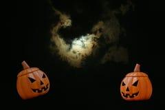 Zucca intagliata di Halloween Immagini Stock Libere da Diritti