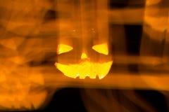Zucca intagliata di Halloween Immagini Stock